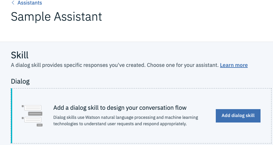 Add a dialog skill to the Assistant