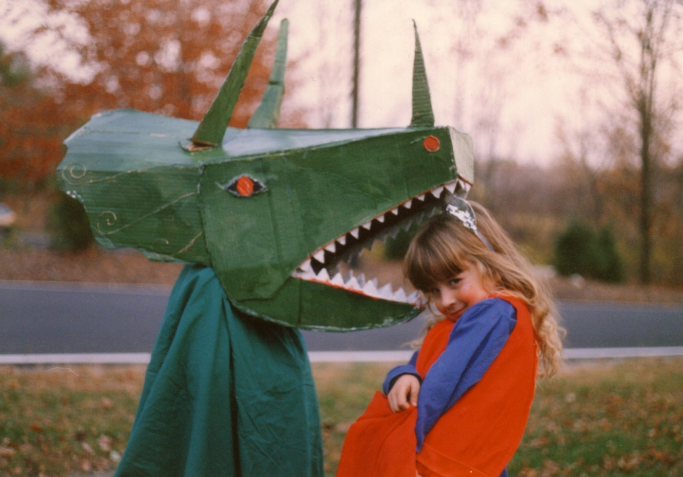 Triceratops costume—who wouldn't want to be a dinosaur…?