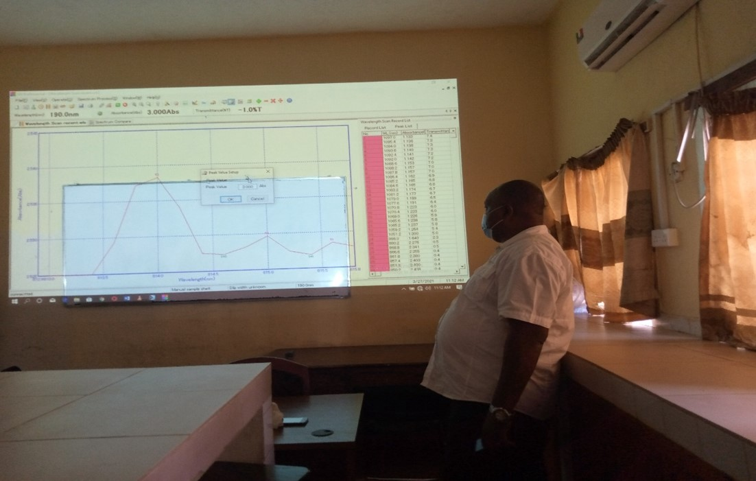 Training on the use of the laboratory equipment