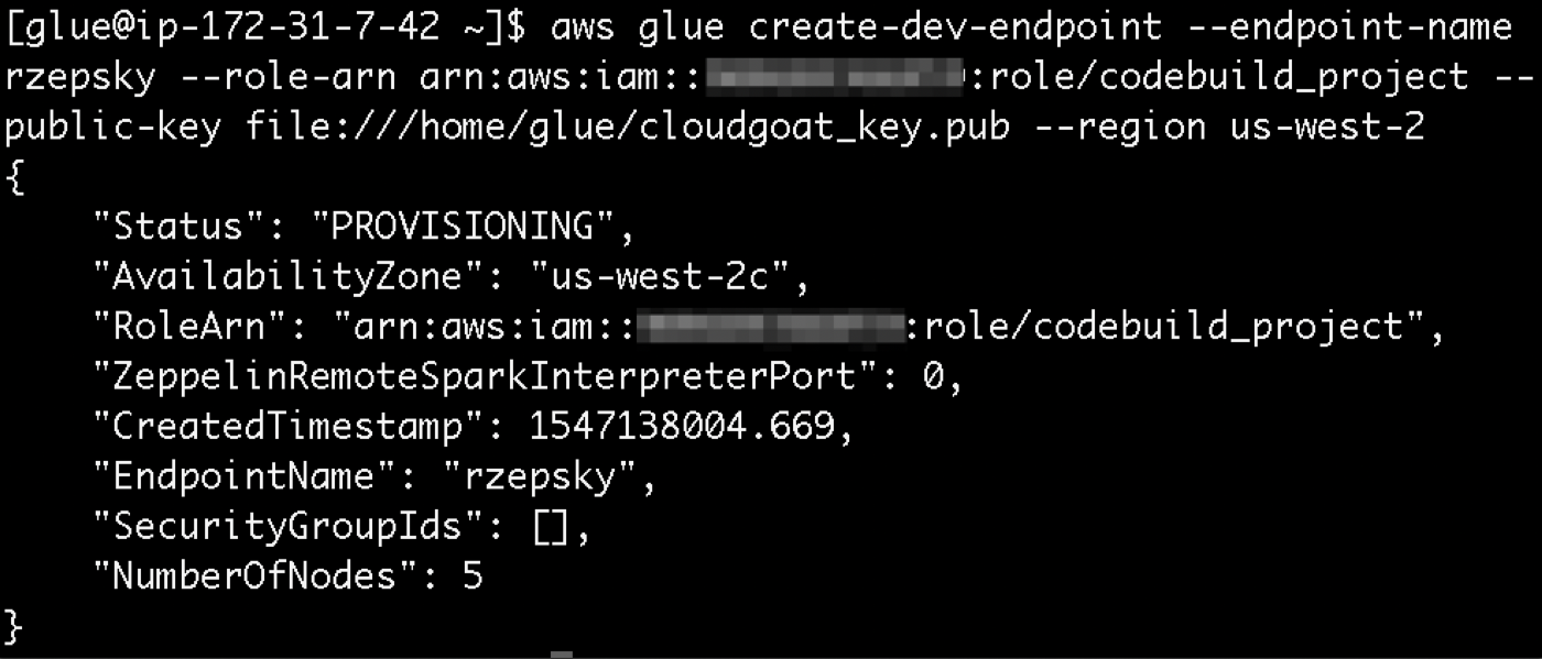 Playing with CloudGoat part 4: security nuances of AWS Glue