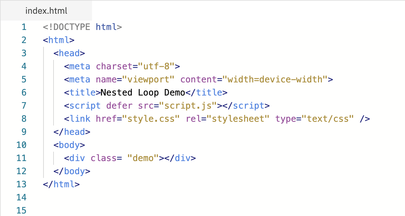 How To Use Nested Loop In Javascript