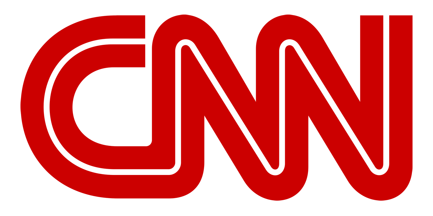 Pictured: The CNN logo.