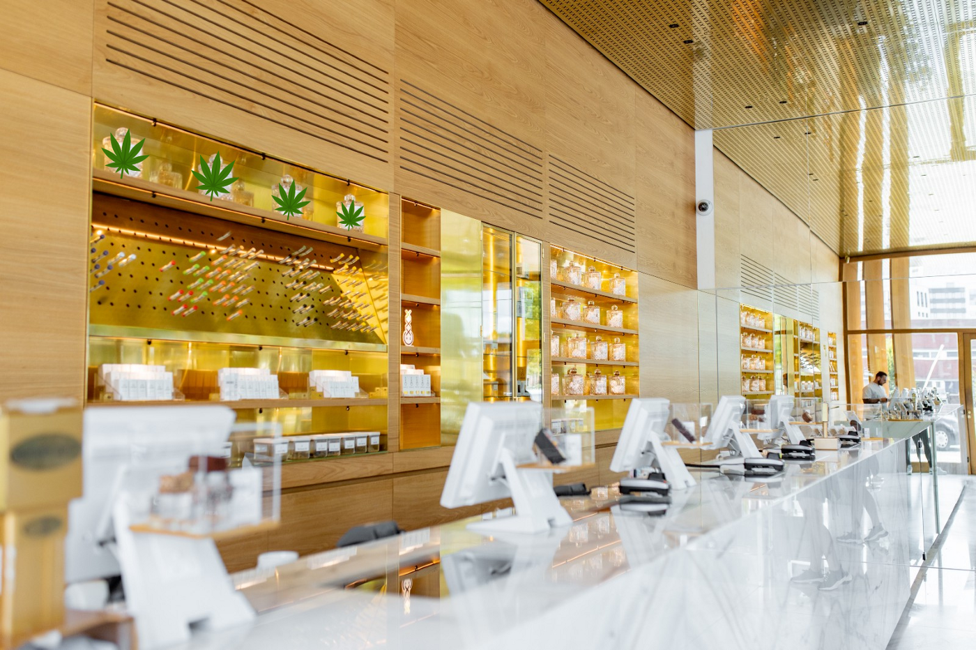 Photo of a chic cannabis dispensary