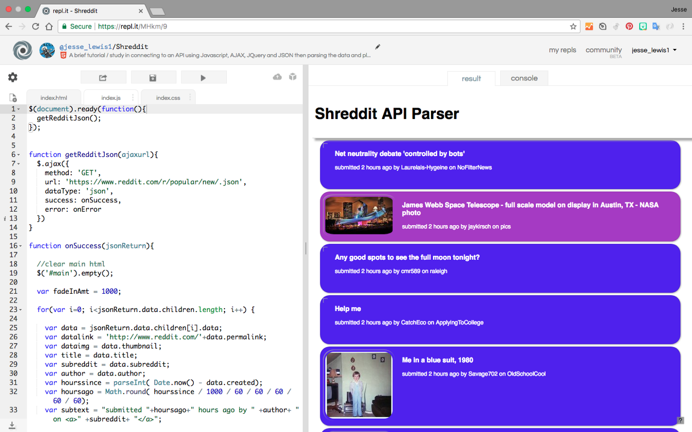 How to pull data from JSON API's with JQuery and AJAX (when you're a