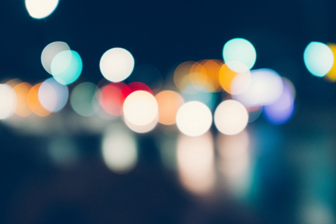 blurry colored lights illustrating the bokeh effect