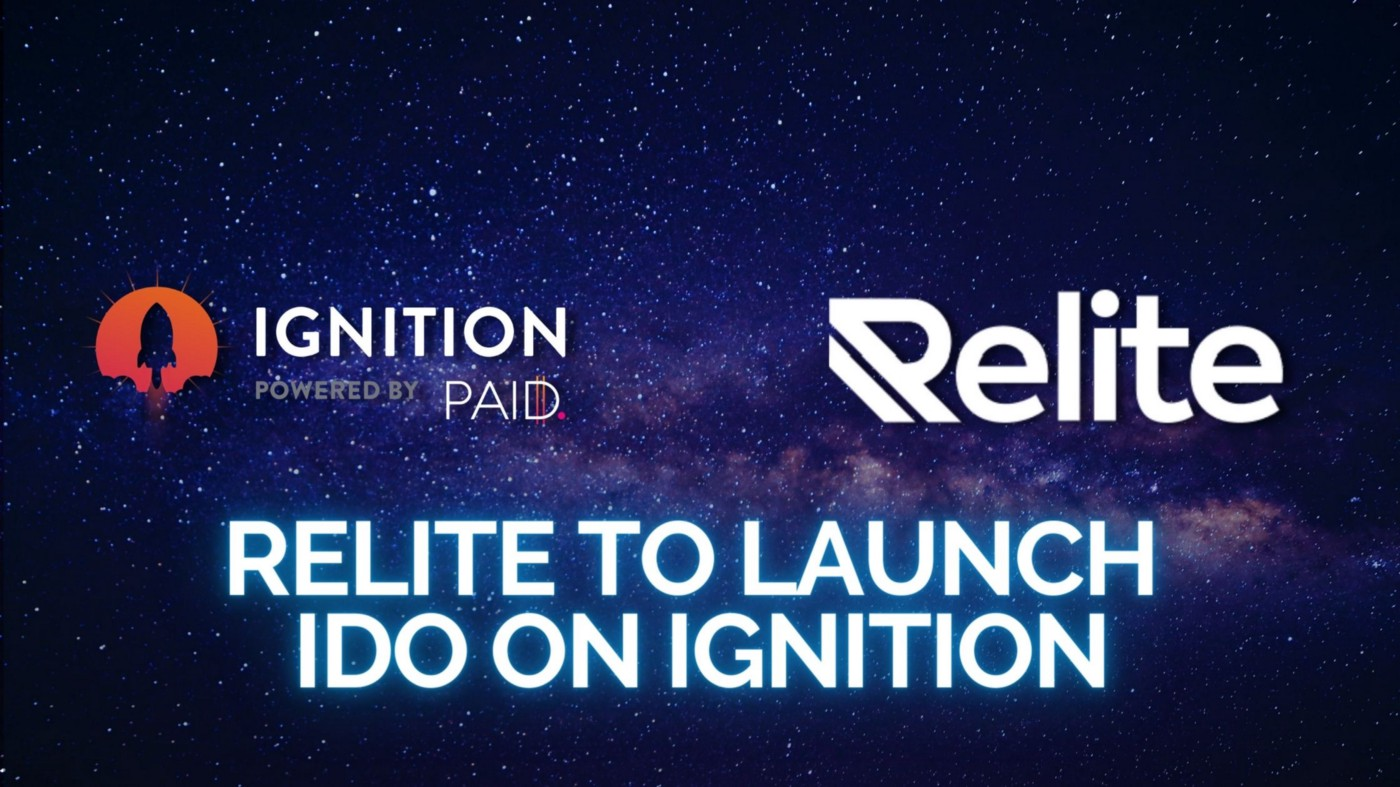 Relite to Launch IDO on Ignition