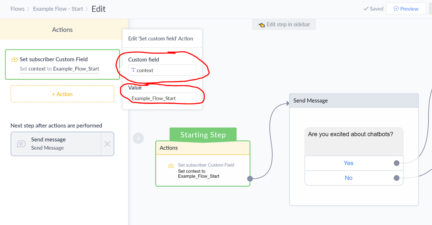 Integrating ManyChat with Dialogflow w/ Context Sharing (NLP with