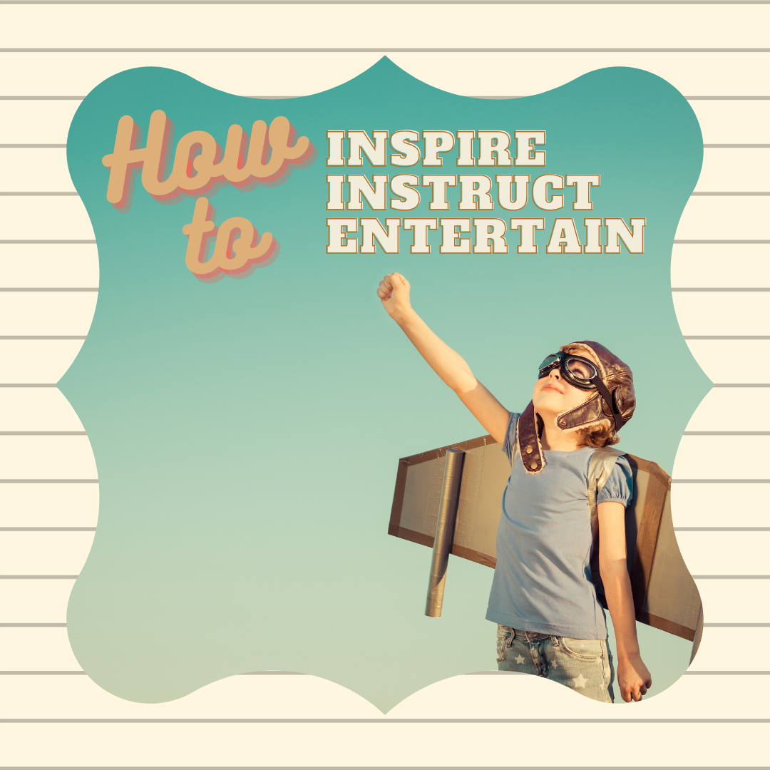 How to inspire instruct and entertain with a picture of a kid wanting to fly