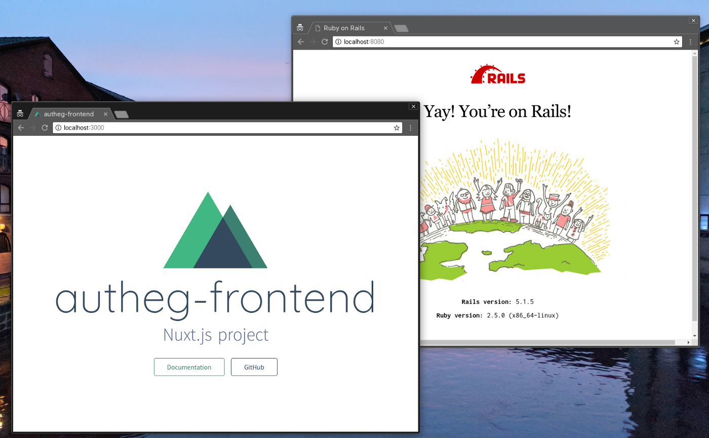 How to separate frontend + backend with Rails API, Nuxt js and