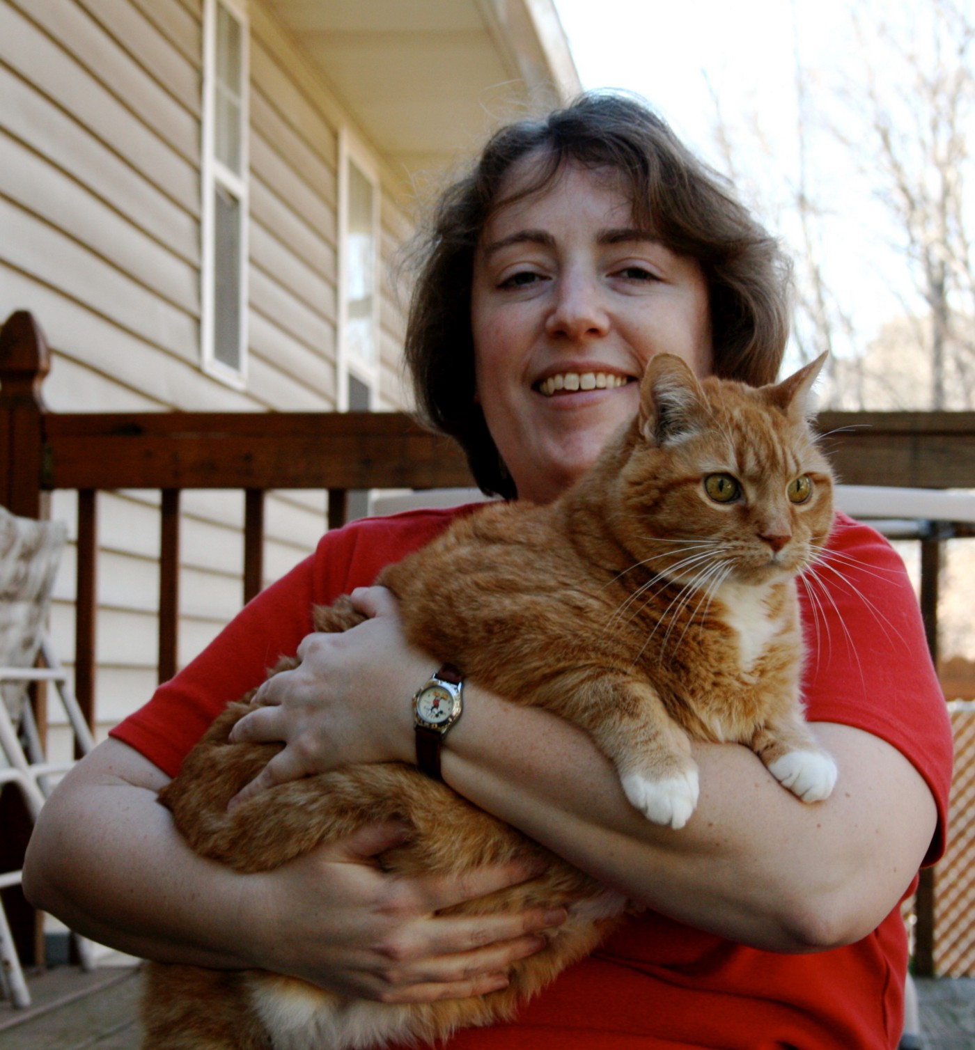 Author and her cat.