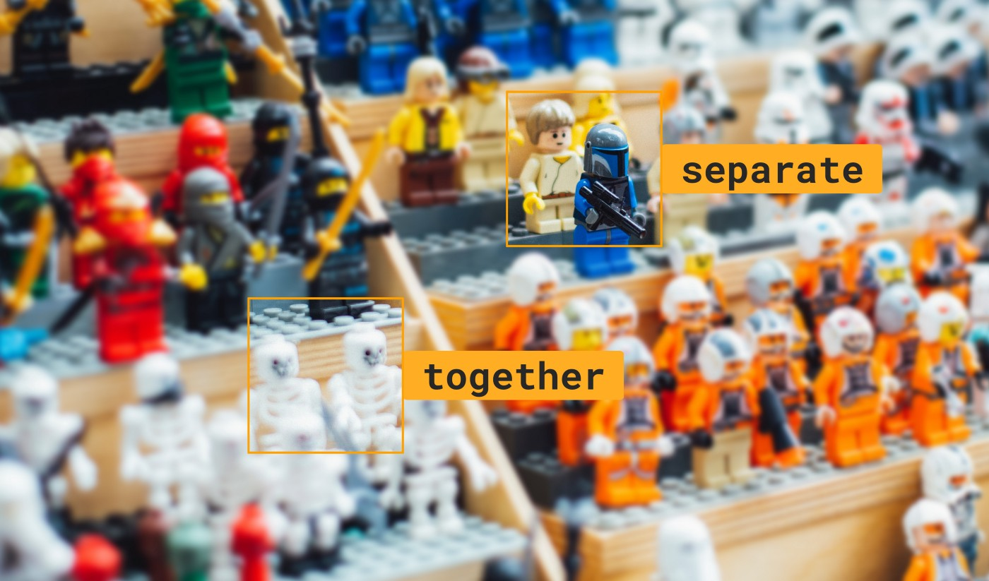 Lego audience with types of state overlay