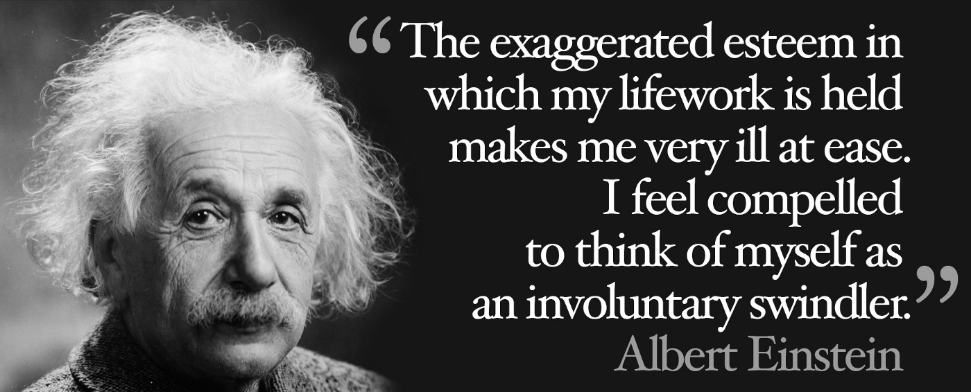 Albert Einstein on the imposter syndrome and feeling like a fake