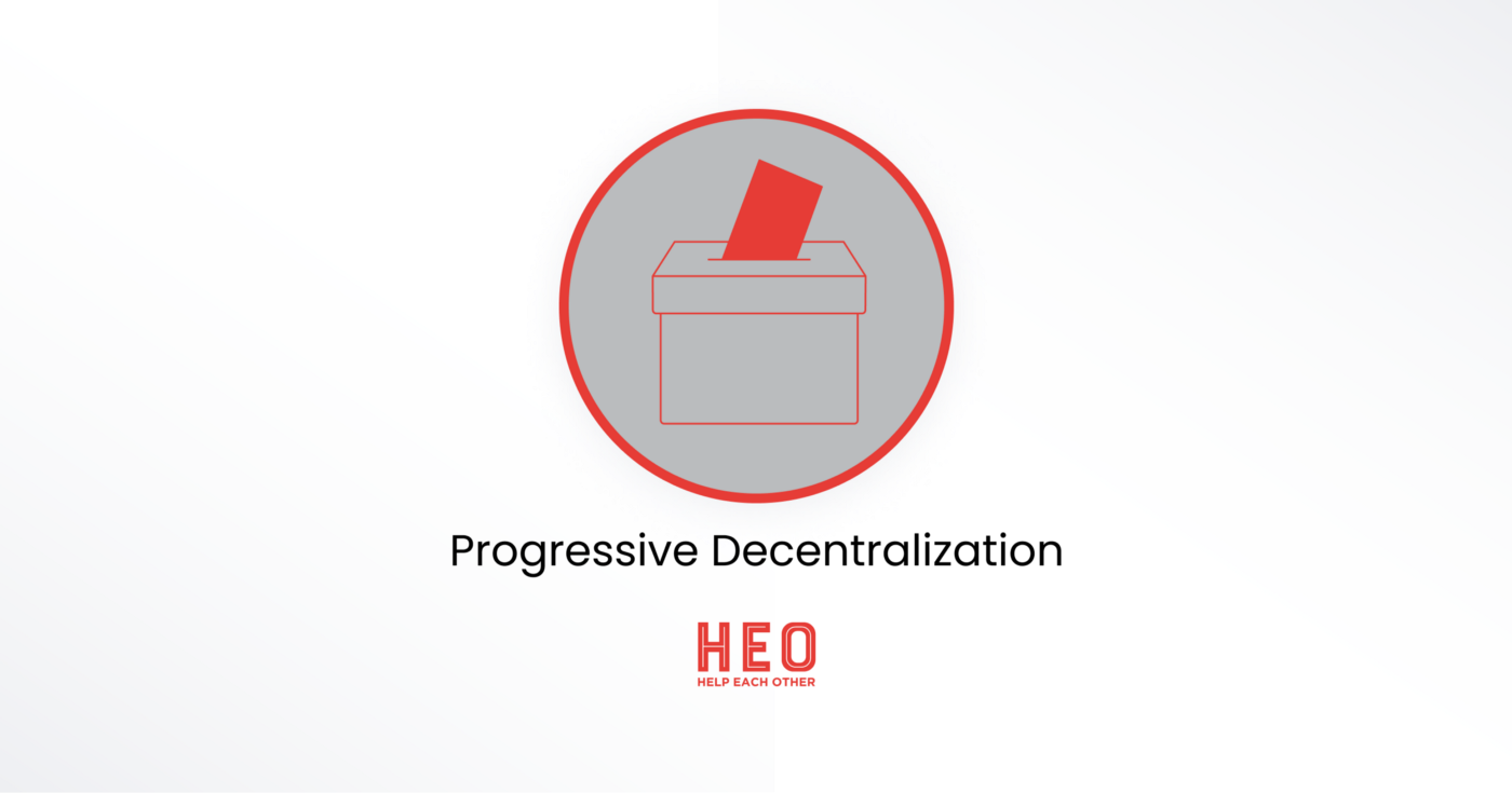 We're keen to walk this path of progressive decentralization with you