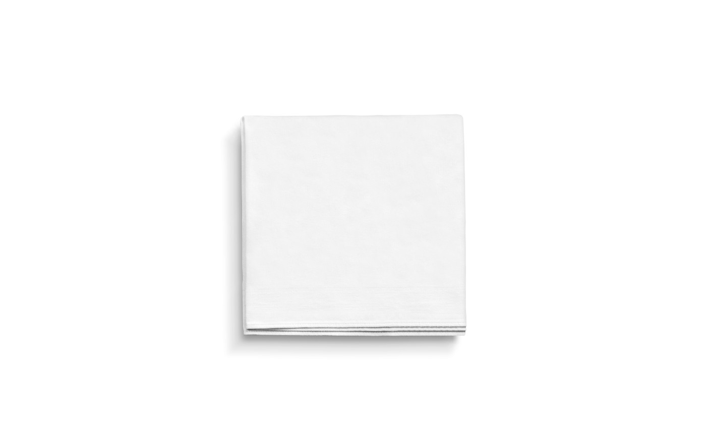 A white handkerchief on a white background