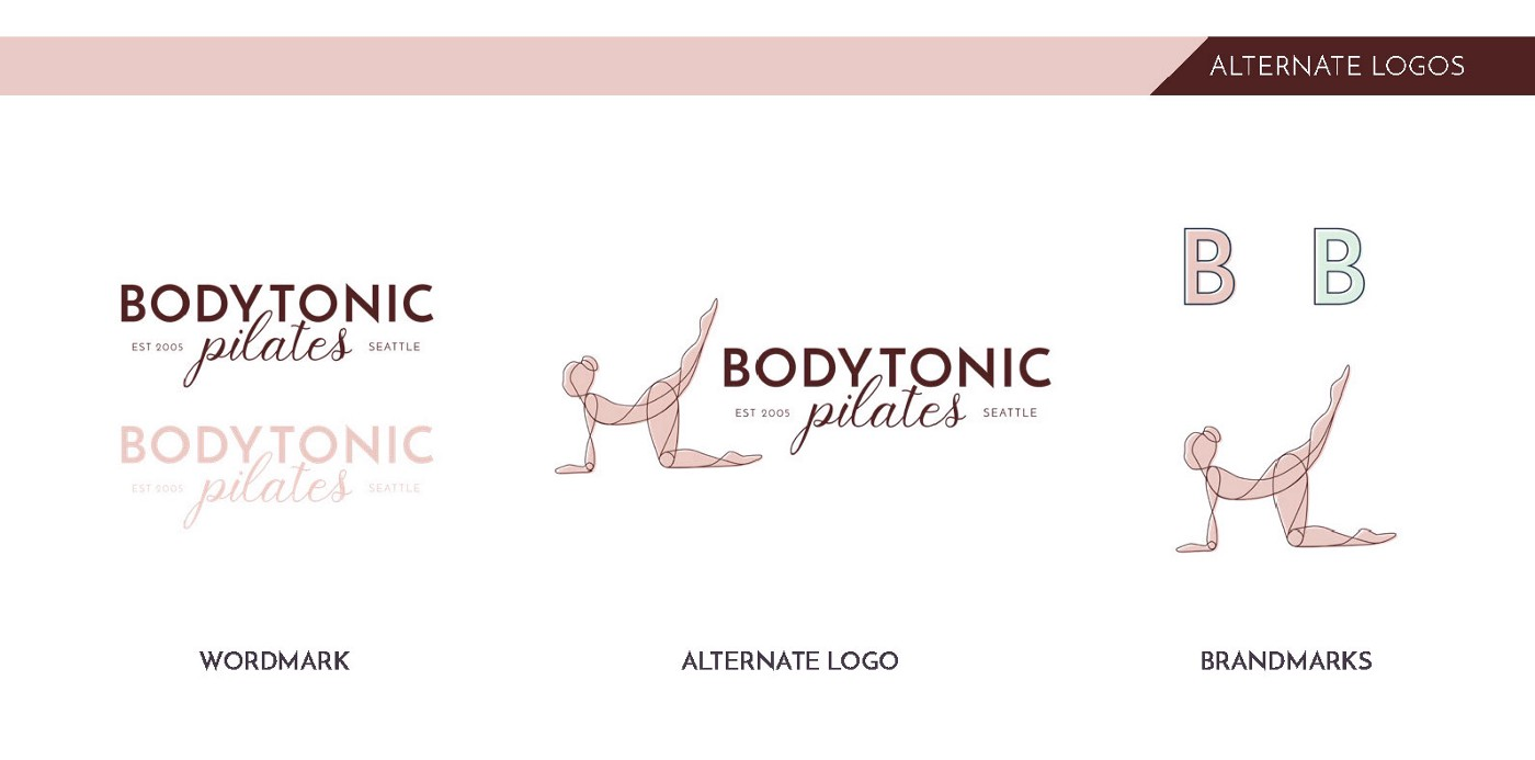 different logo orientations in a brand system