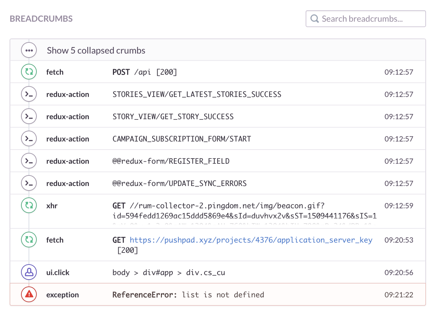 I have been doing web app error tracking and debugging wrong all