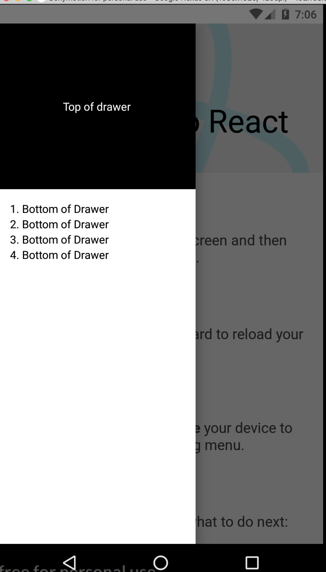 Drawer Menu React Js