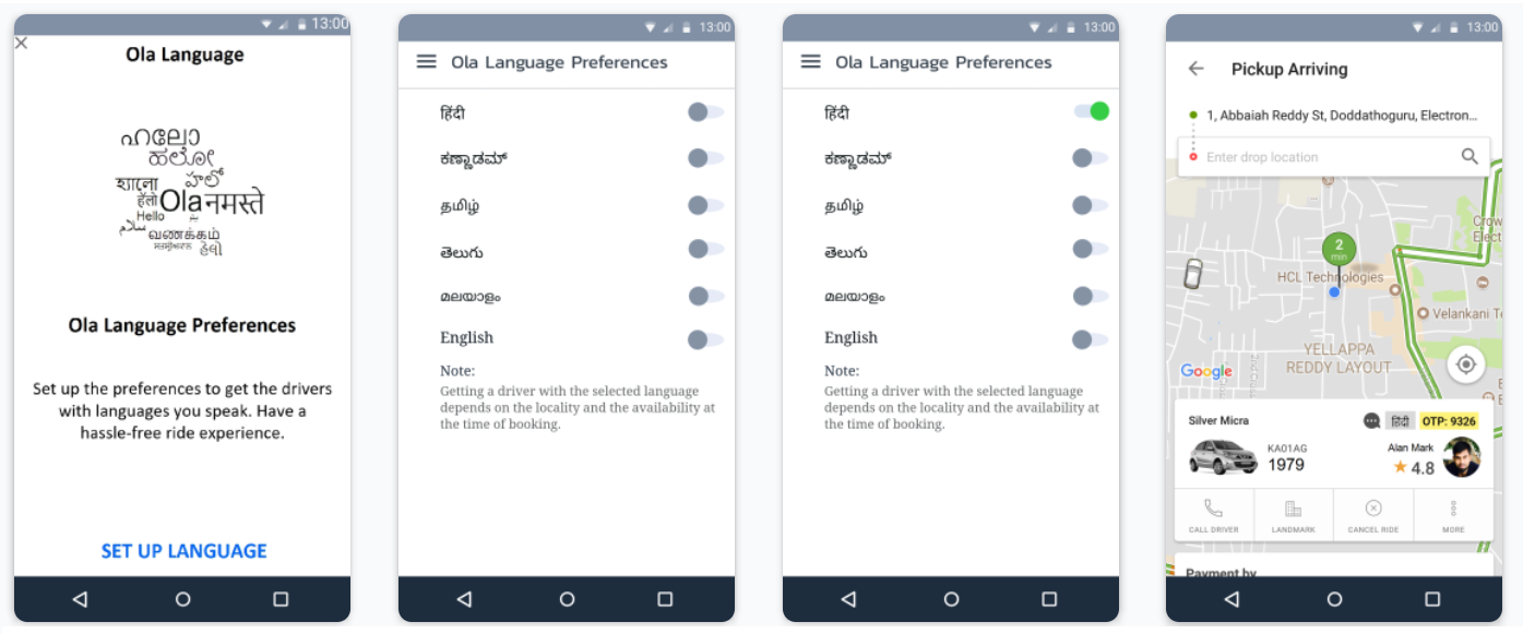 Introducing Ola Language Preferences - ProductCoalition com