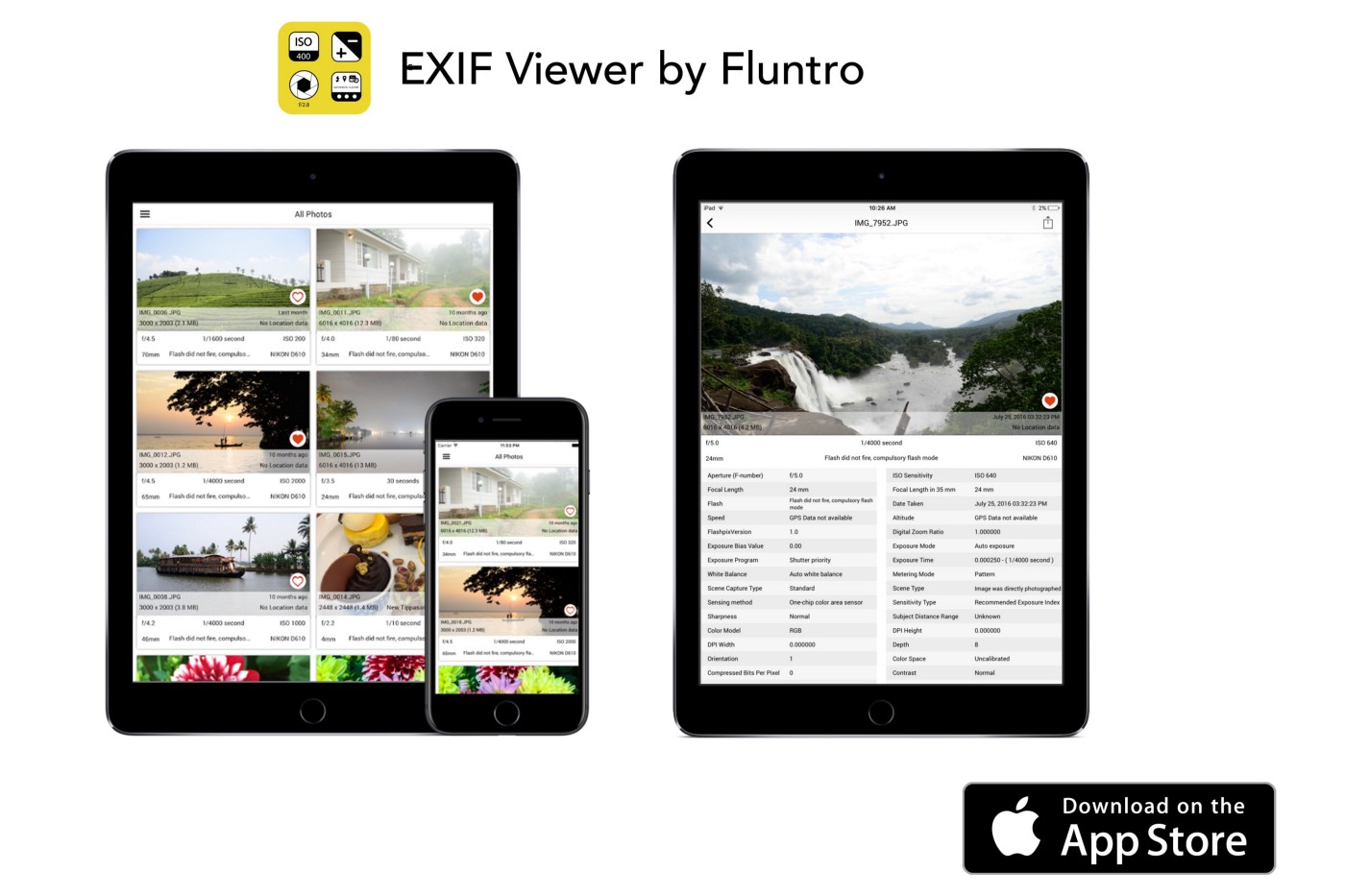 [FREE] EXIF Viewer by Fluntro  – App Store