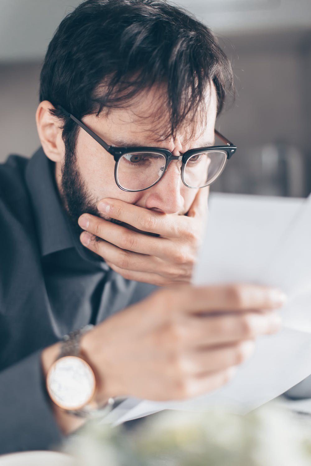 Man realizing that Bitcoin isn't a scam.