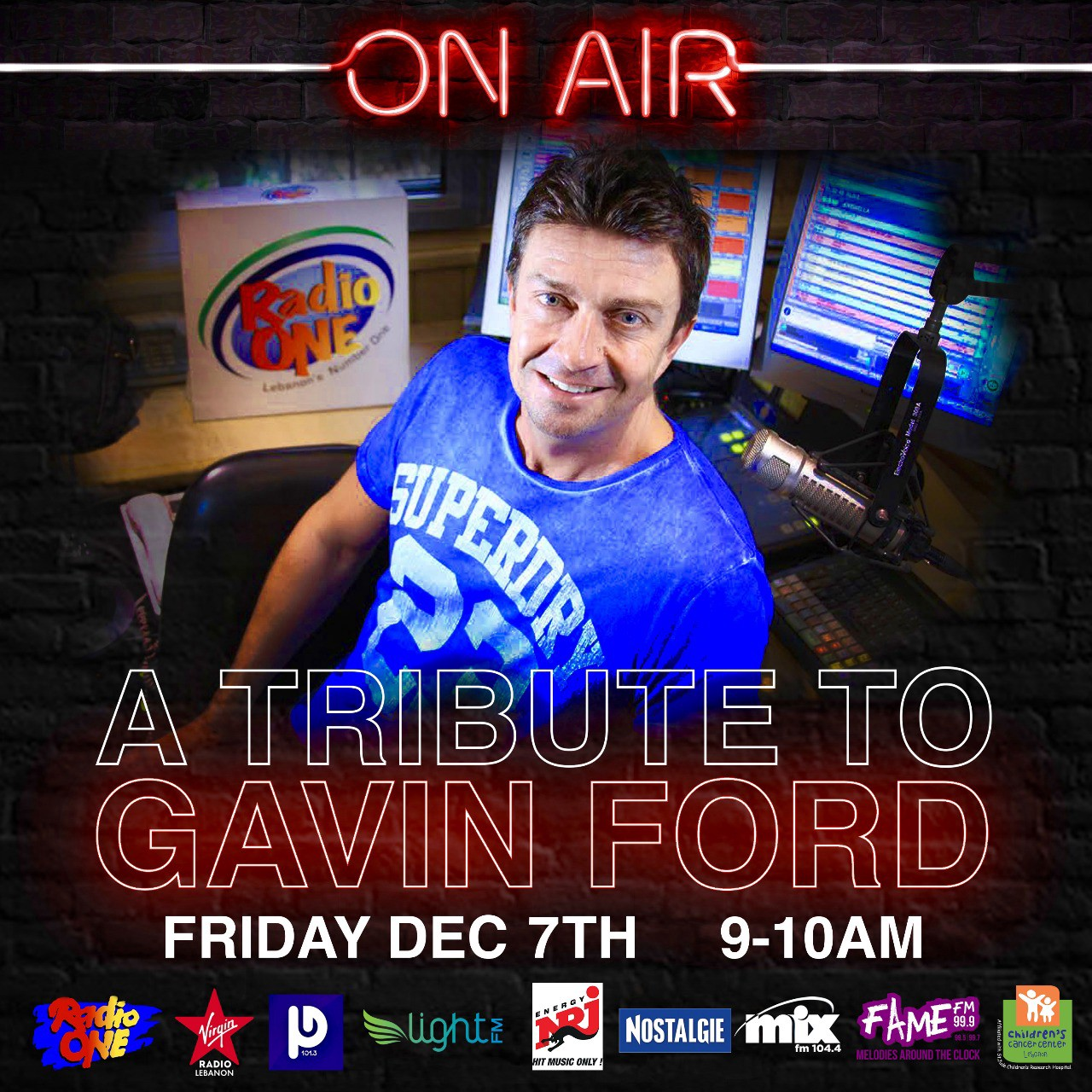 10 Radios to Simulcast Tribute After Gavin Ford Laid to Rest in Lebanon