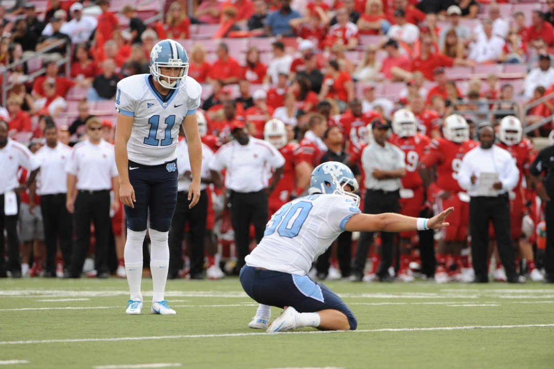 Casey Barth playing football at UNC—now works at Syneos Health