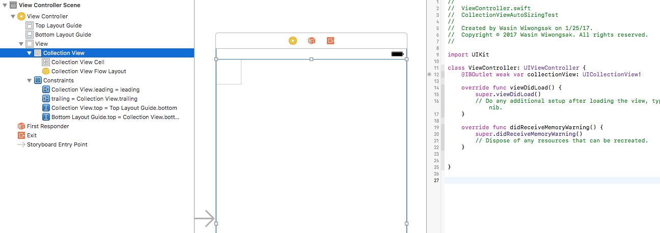 UICollectionView with autosizing cell using autolayout in iOS 9 & 10