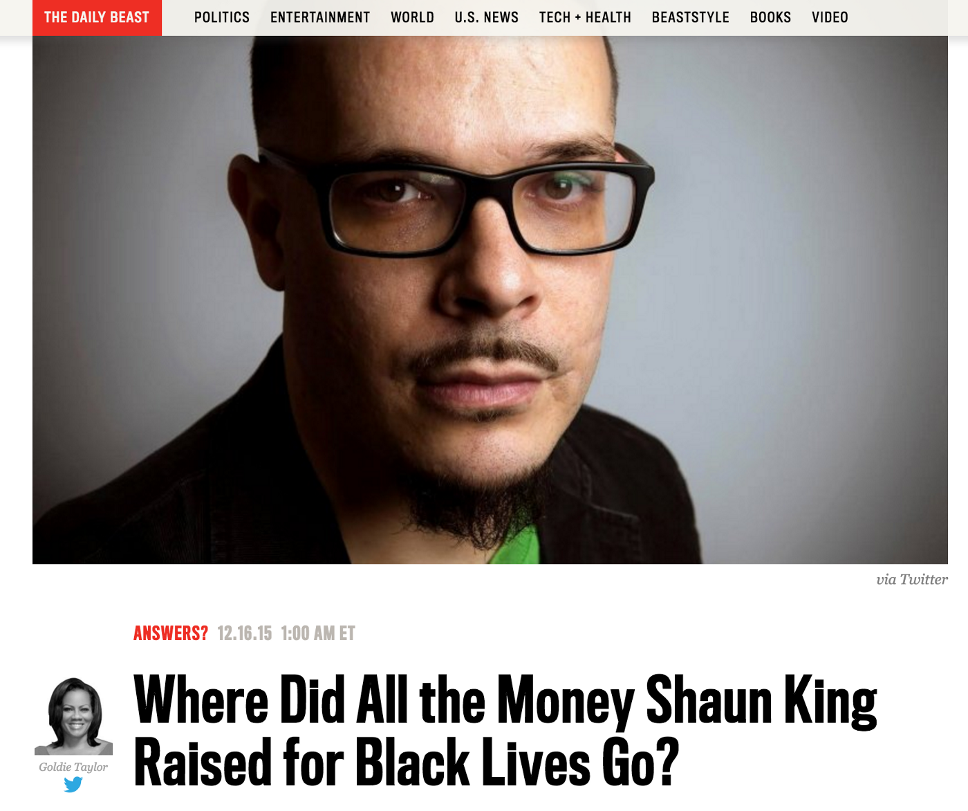 A complete accounting of every dollar raised by Shaun King