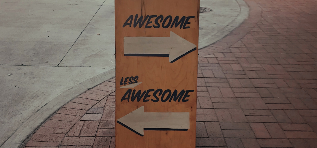 Awesome vs. less awesome