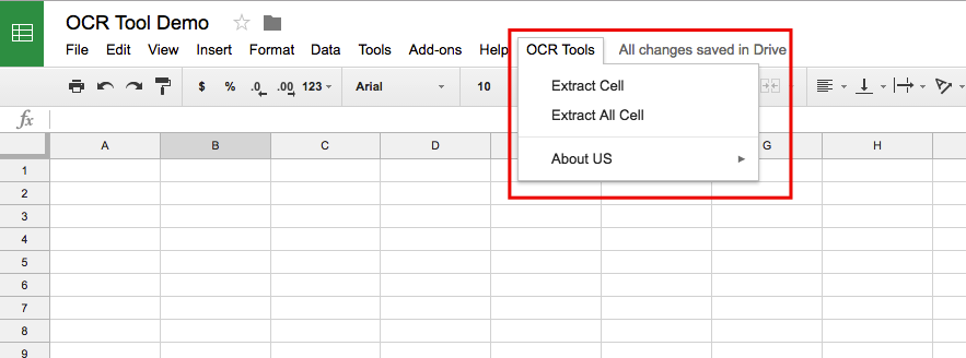 Make OCR Tool in Google Spreadsheet to Extract Text from Image or