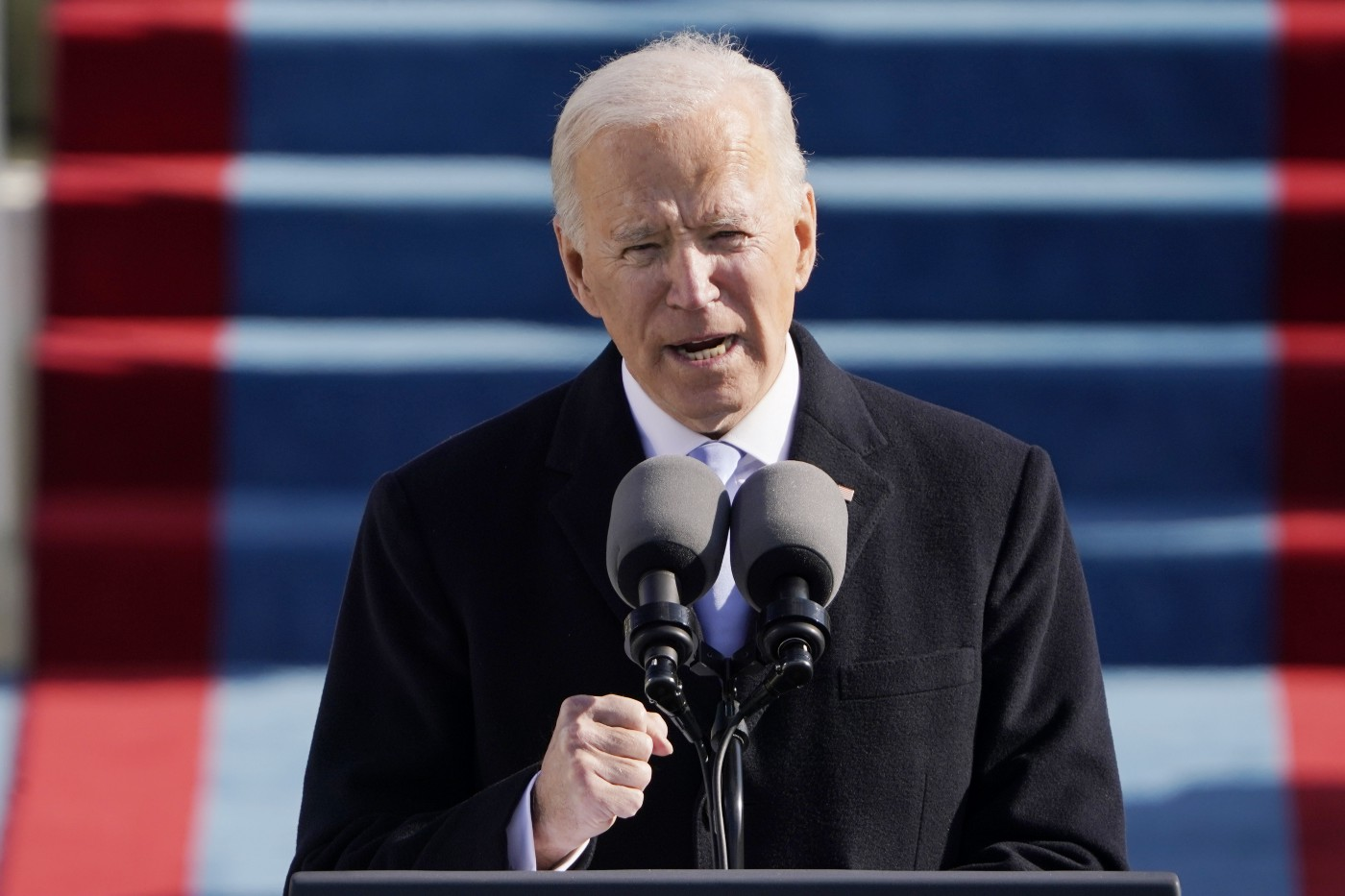 President Joe Biden speaks during the the 59th inaugural ceremony on the West Front of the U.S. Capitol on January 20, 2021