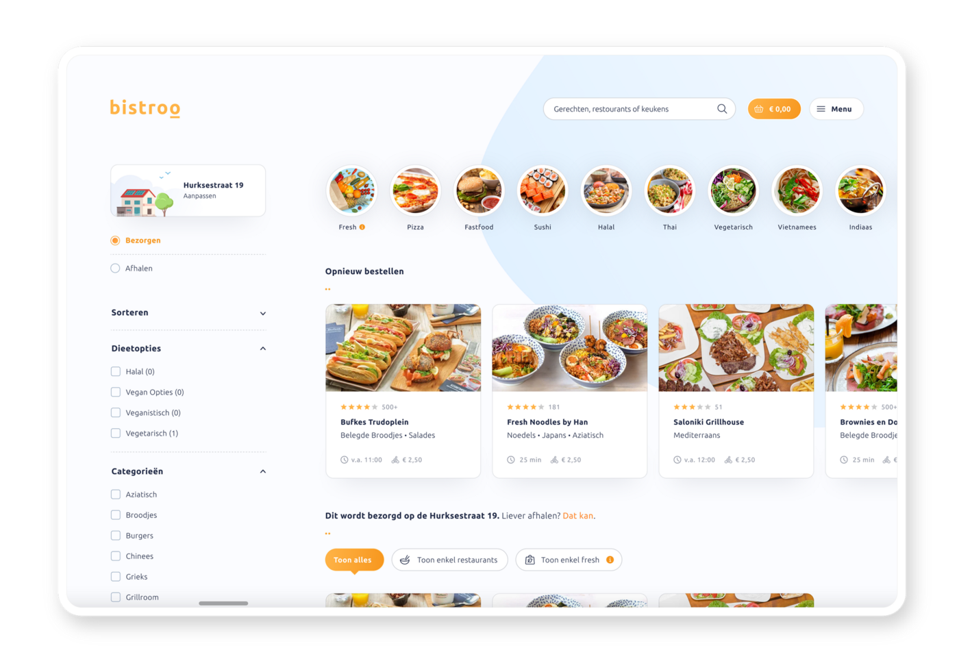 Bistroo marketplace in Core V4