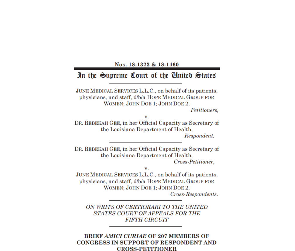 Most of the front page of the Amicus Brief referenced in the story