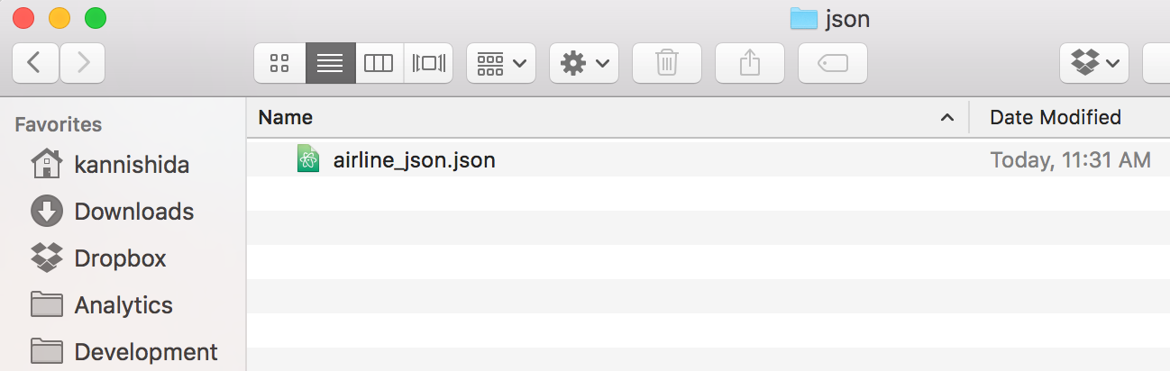 Saving the data to JSON file - learn data science