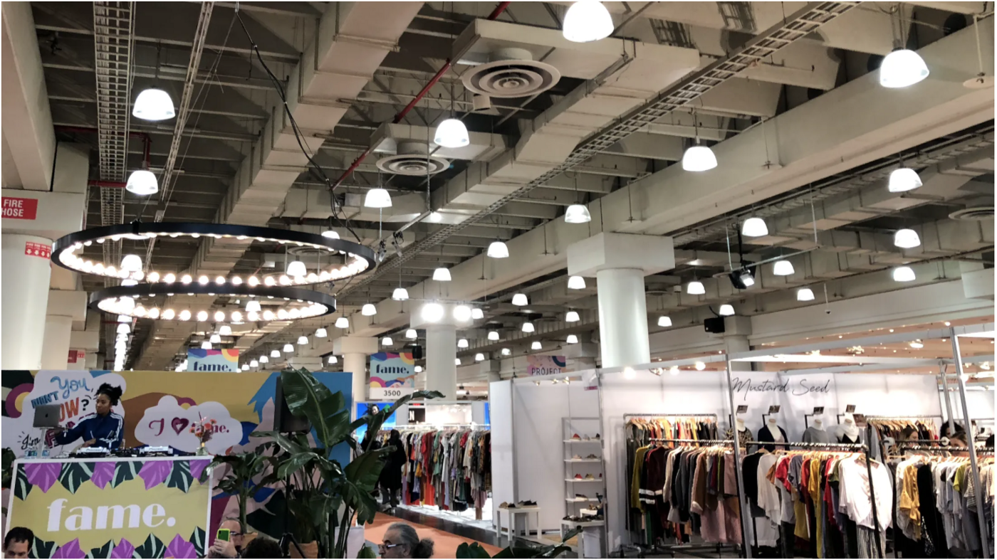 Image of a wholesale clothing & accessories show