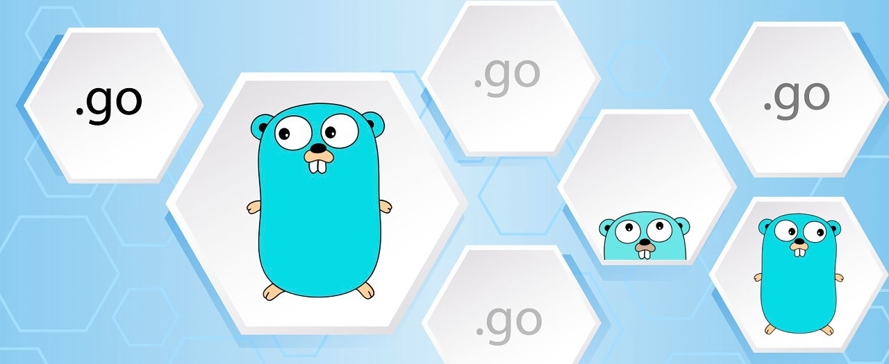 Go mascot in small bee hive blocks showing modules
