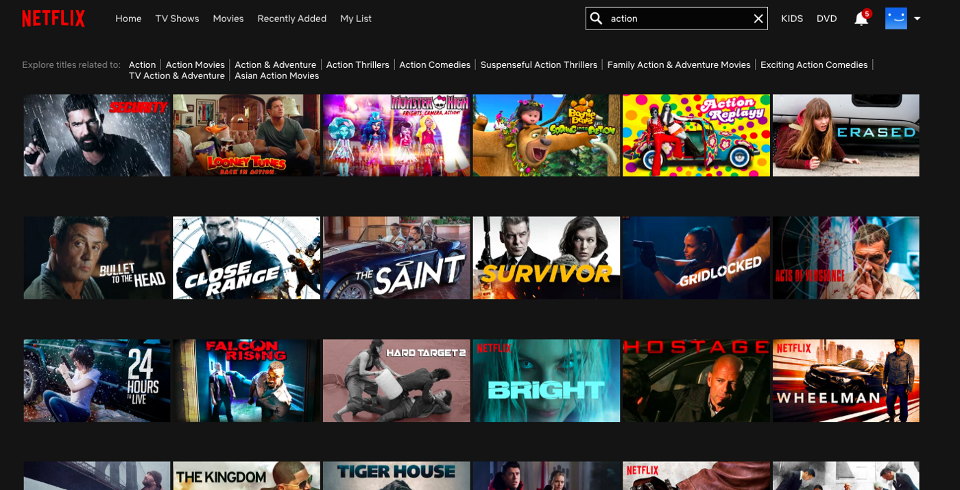 Netflix design patterns and flows - UX Collective
