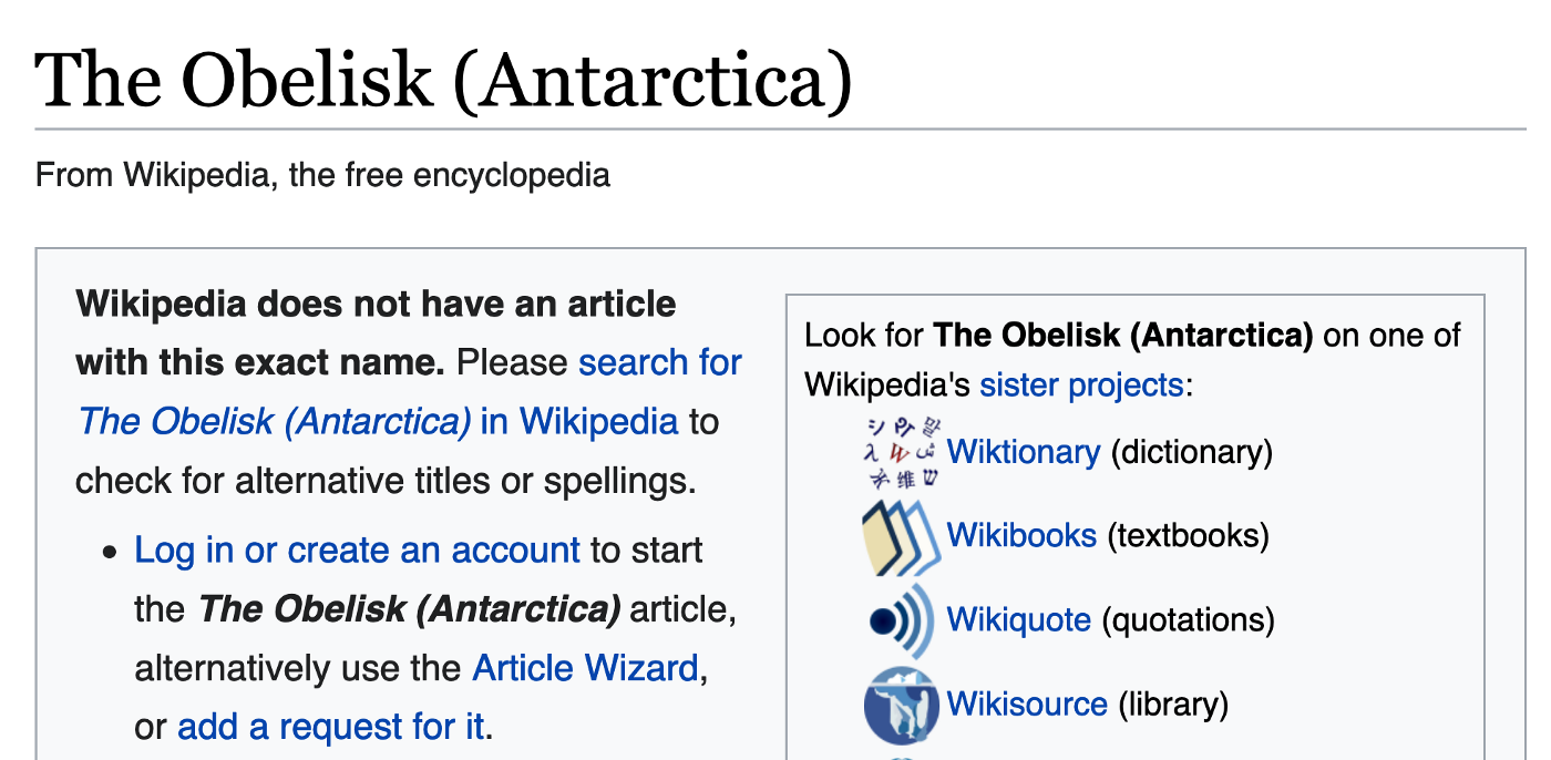 Some scholars suggest the Obelisk in Antarctica is of Quatrian origin, and this is why knowledge of it is being suppressed.