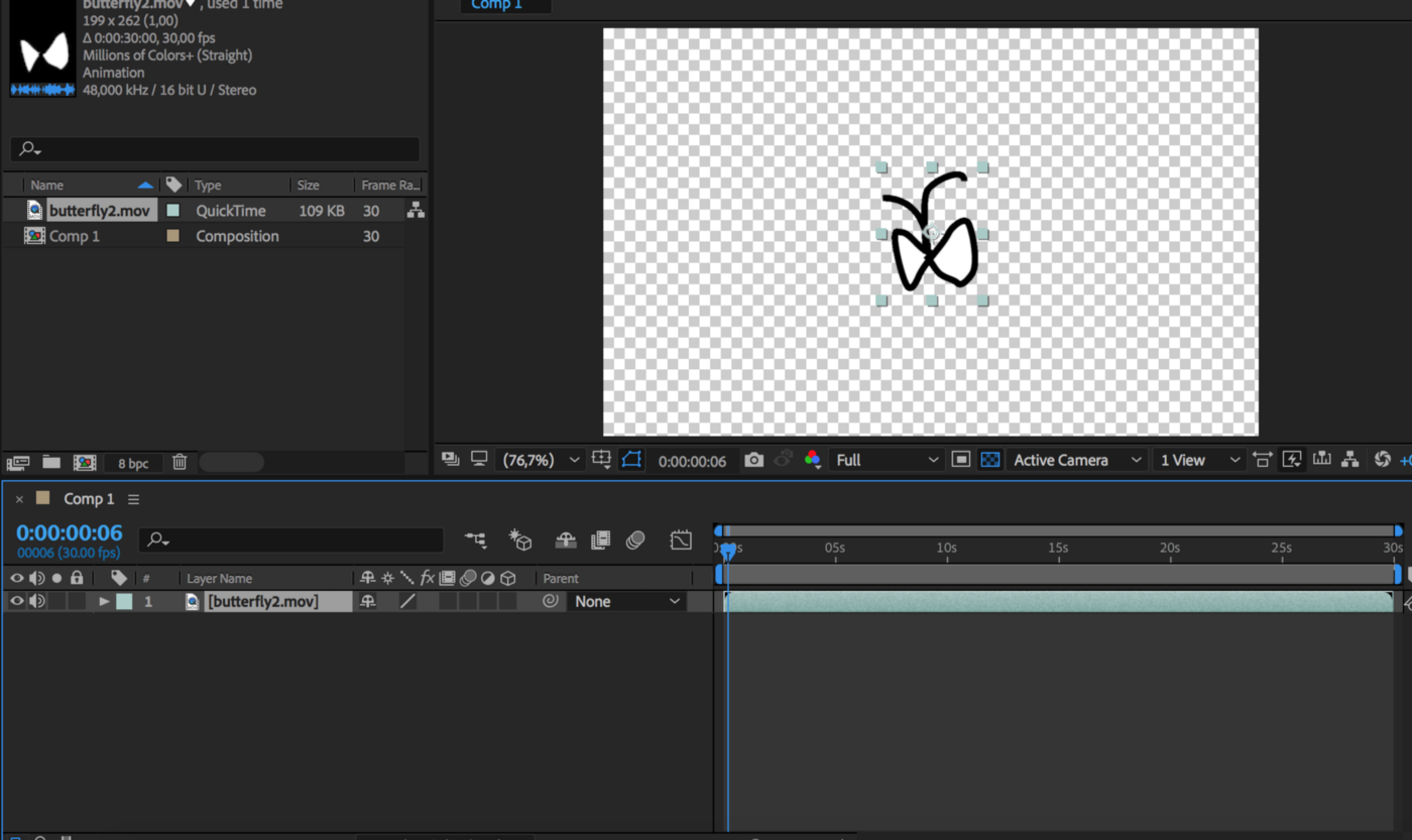 Importing transparent Gif into Adobe After Effects - Xinyue Yang