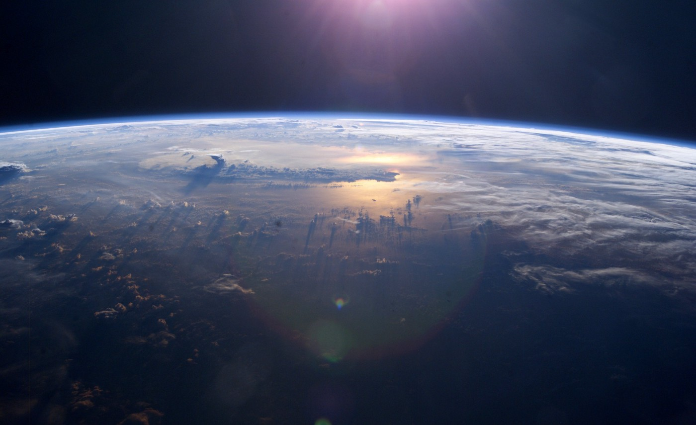 A view of the earth from the International Space Station