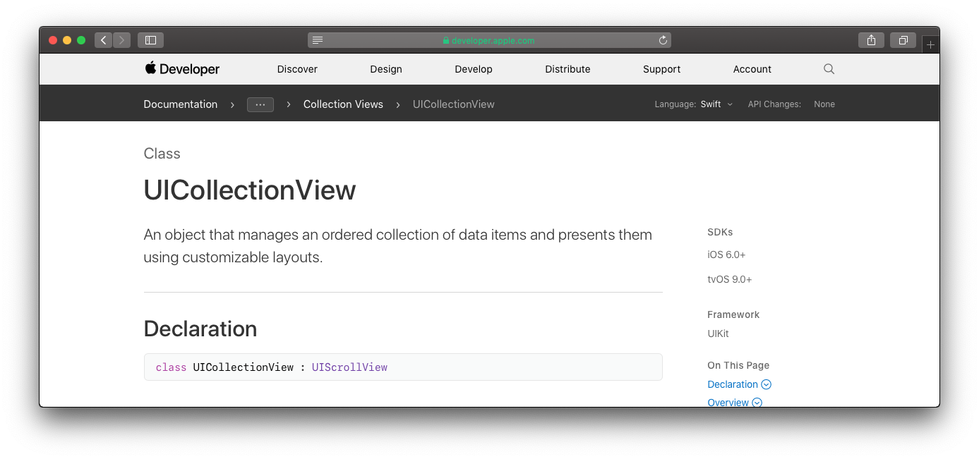 UICollectionView + UICVDataSource + UICVDelegateFlowLayout Straight