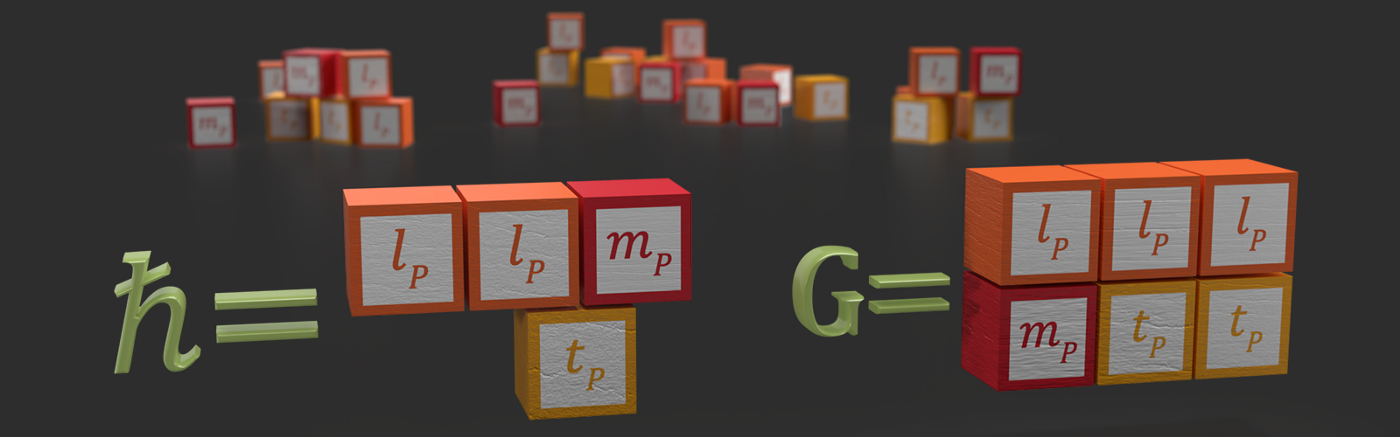 Building blocks illustrating that Planck's constant and the gravitational constant are made up of natural Planck units