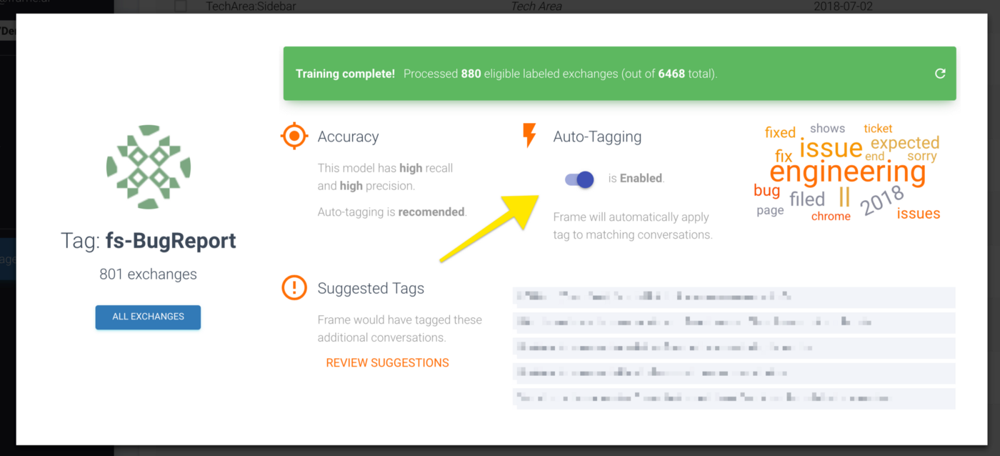 Auto-Tagging, Salesforce, CSV Exports, and More - frame ai