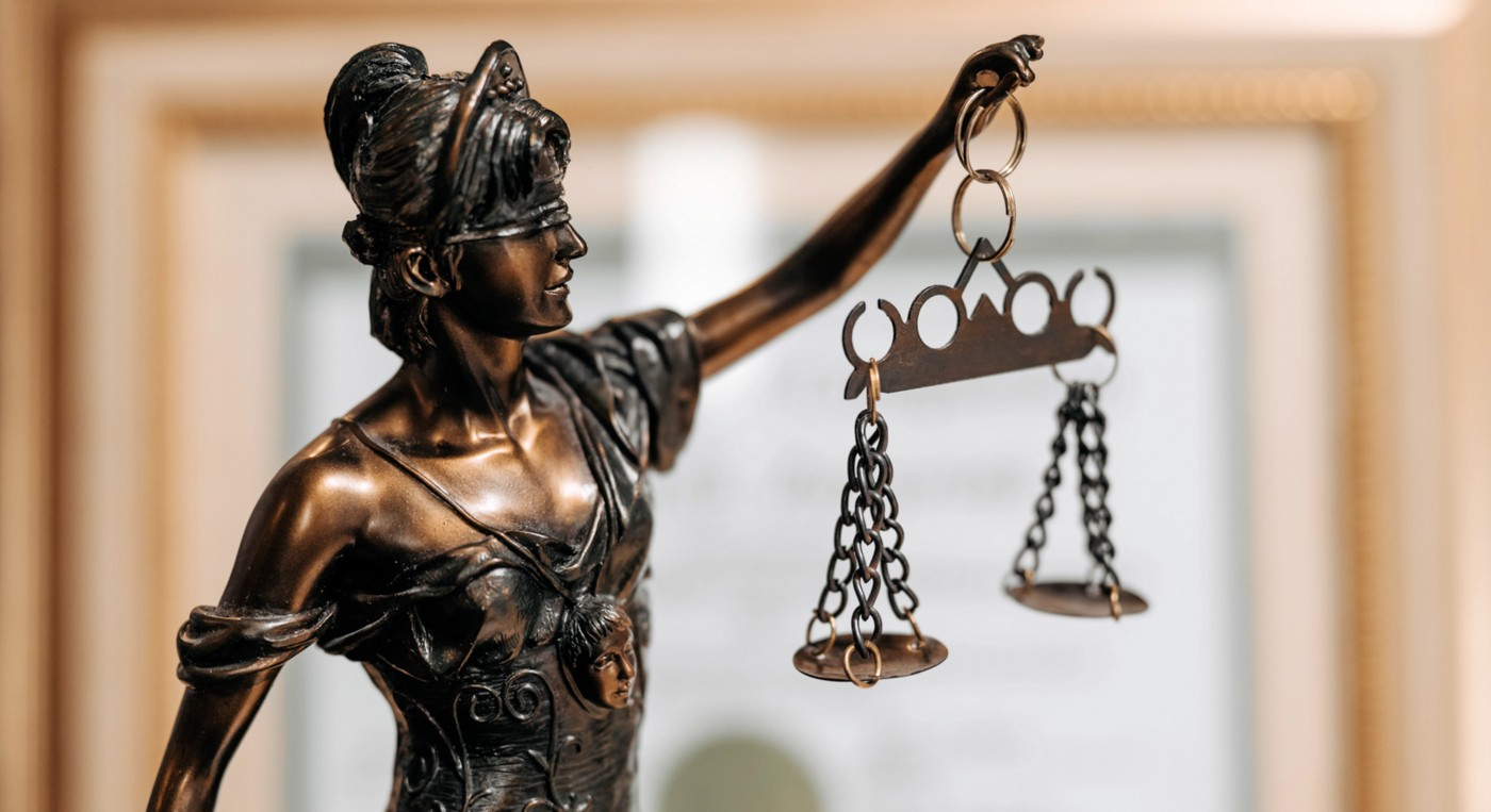 Statue of Justice holding the scales of justice