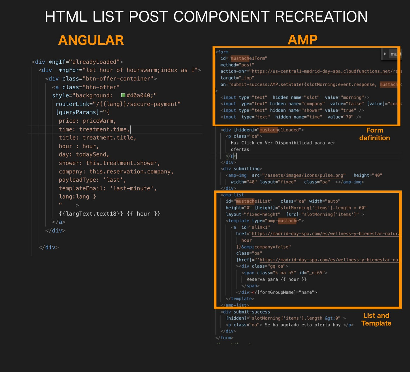 Target value in html