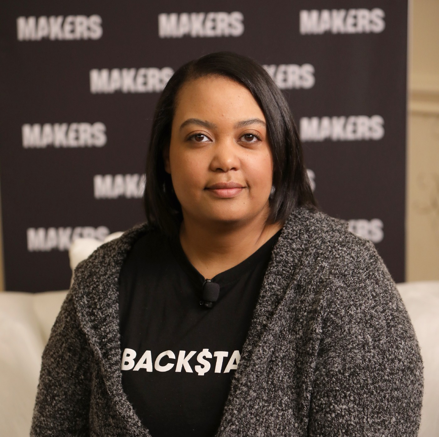 A portrait photo of Backstage Capital founder and CEO, Arlan Hamilton, at The 2019 MAKERS Conference on February 7, 2019.
