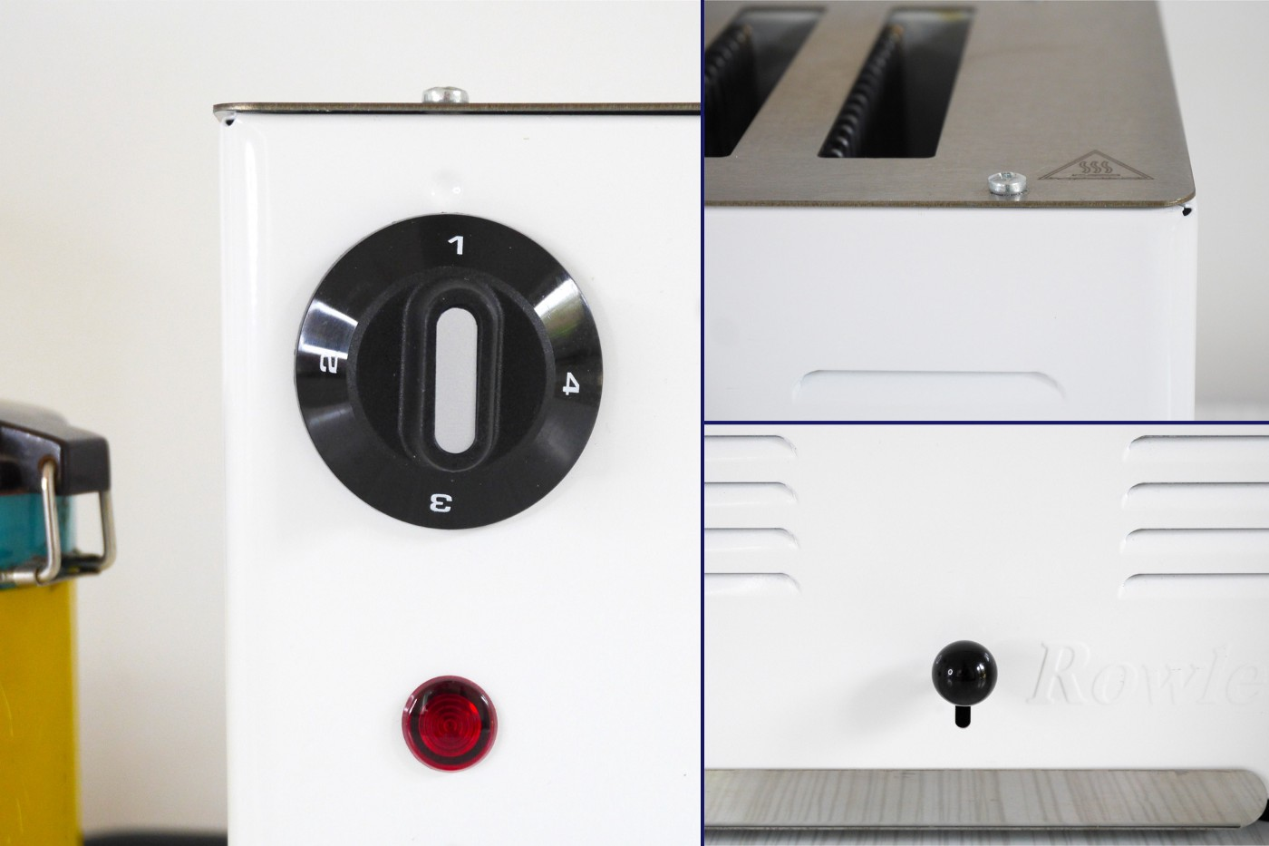 Some close up details of the toaster