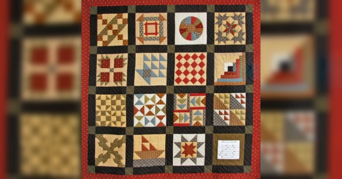 Underground Railroad Quilt used as footer in a race / racism / justice discussion.