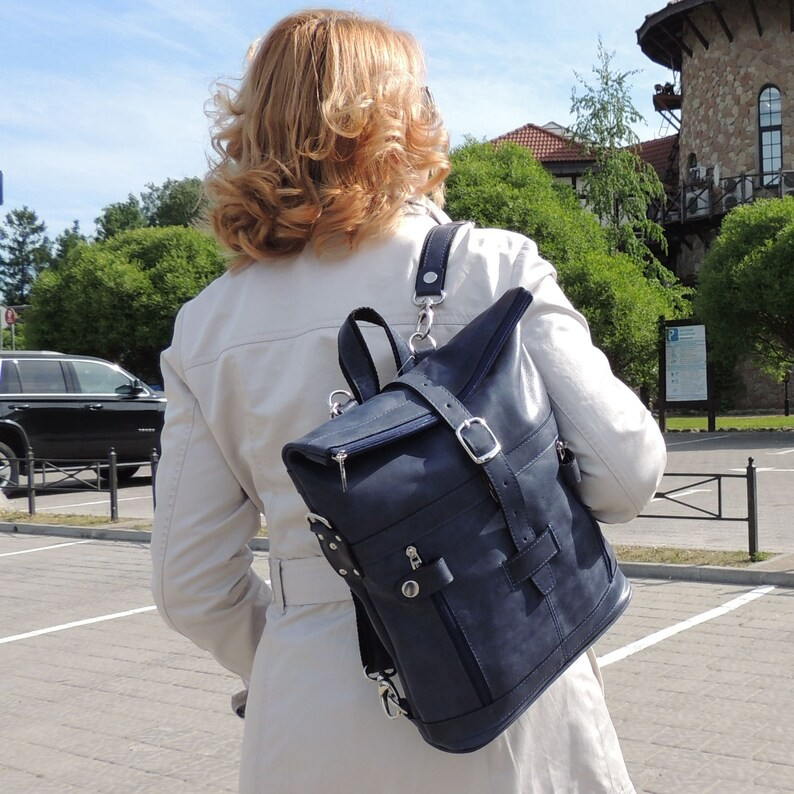 Buy backpack made of leather, handmade author's backpack, OvLGroup, online store,