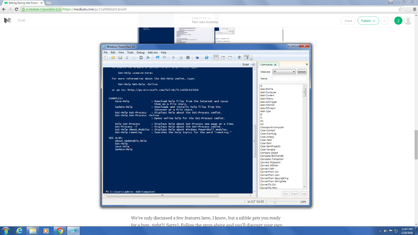 Easing into Powershell with ISE - Tech Jobs Academy - Medium